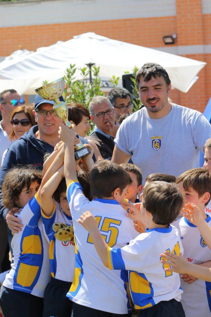 premiazione us roma rugby
