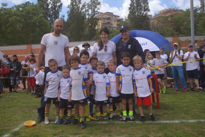 premiazione mini rugby con giovanni ottati