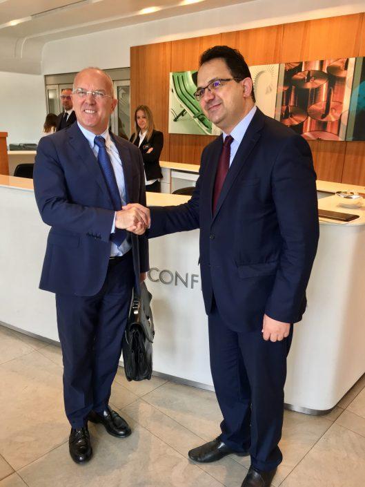 giovanni ottati e il ministro tunisino del commercio